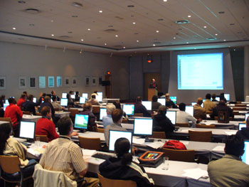 Giving a sold-out MapServer workshop in Cape Town, SA